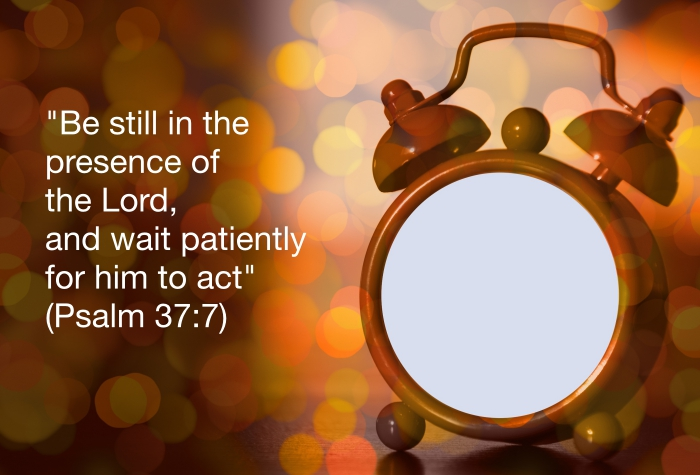 The waiting game blank clock face God's time