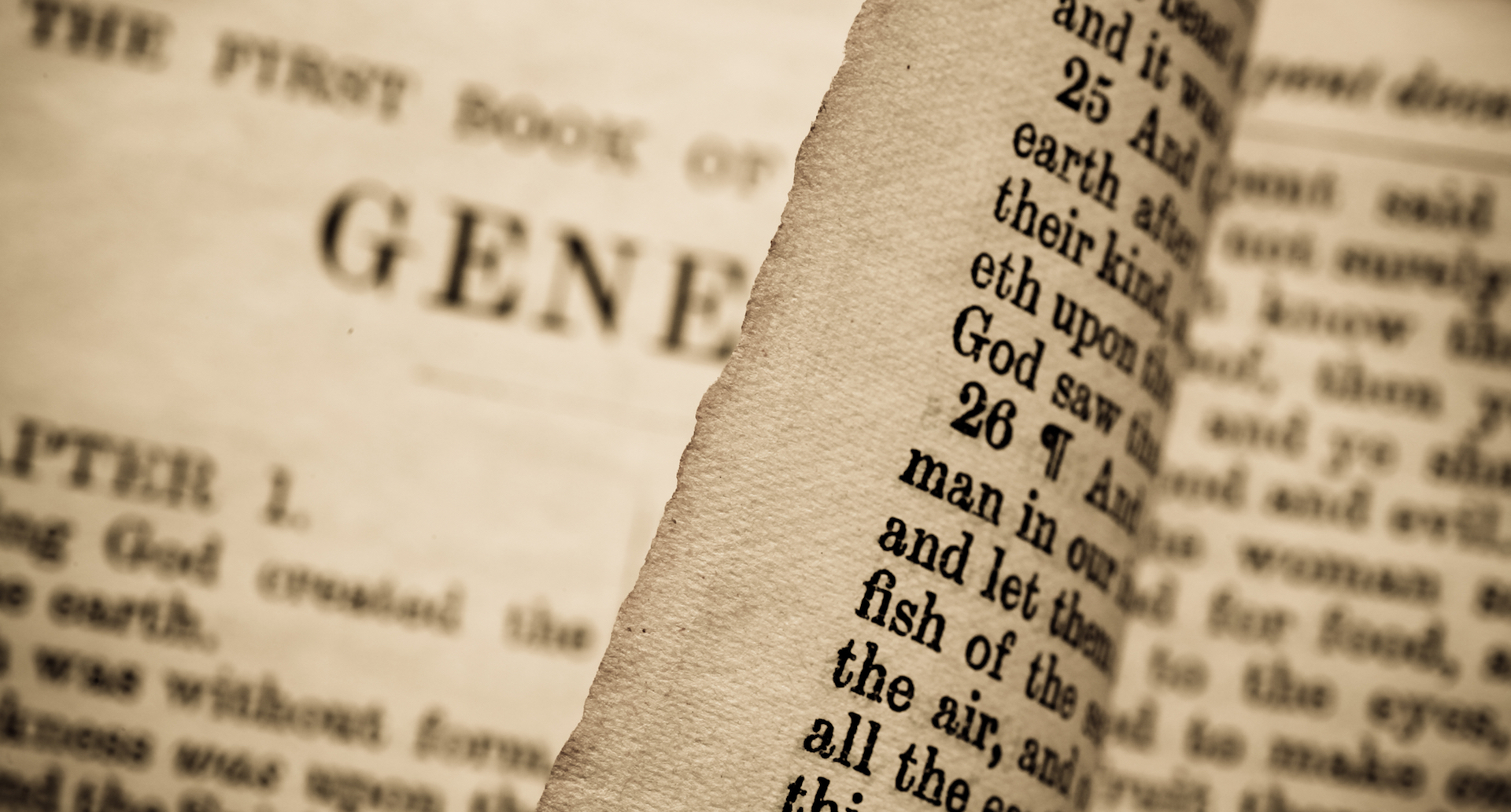 Holy Bible page turning in Genesis - Christians and the Old Testament Law