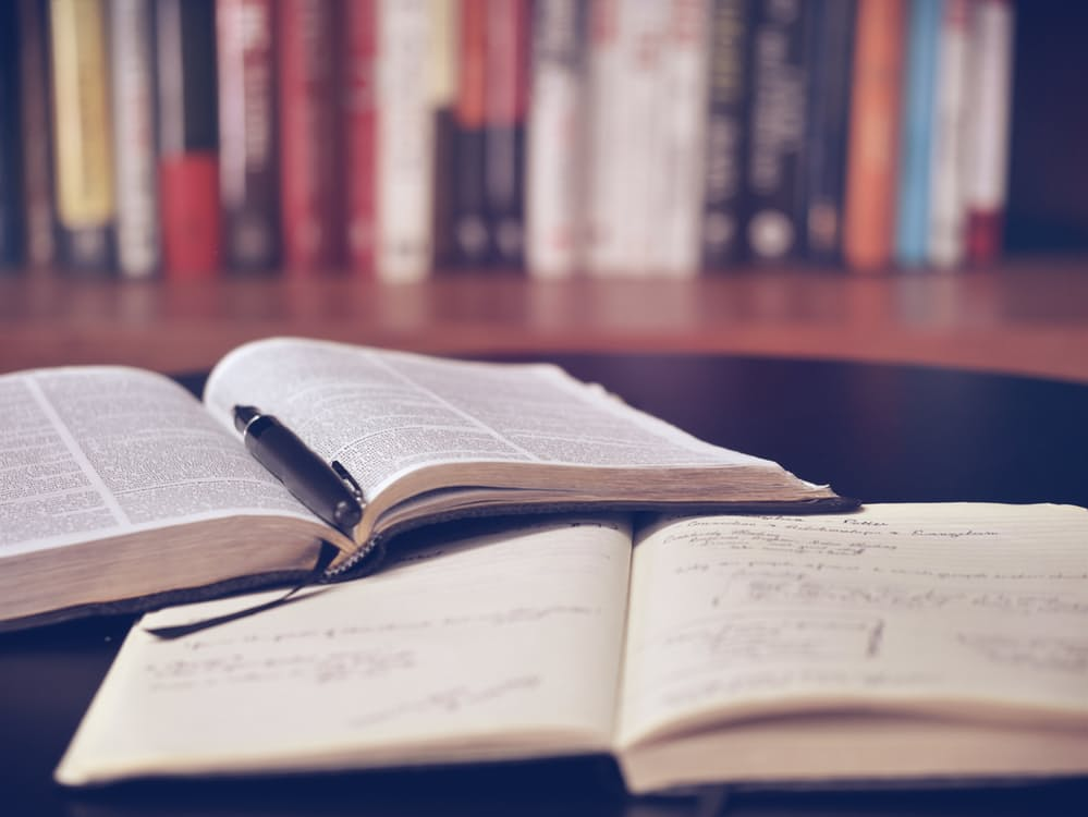 Open book for 1 Corinthians Bible study