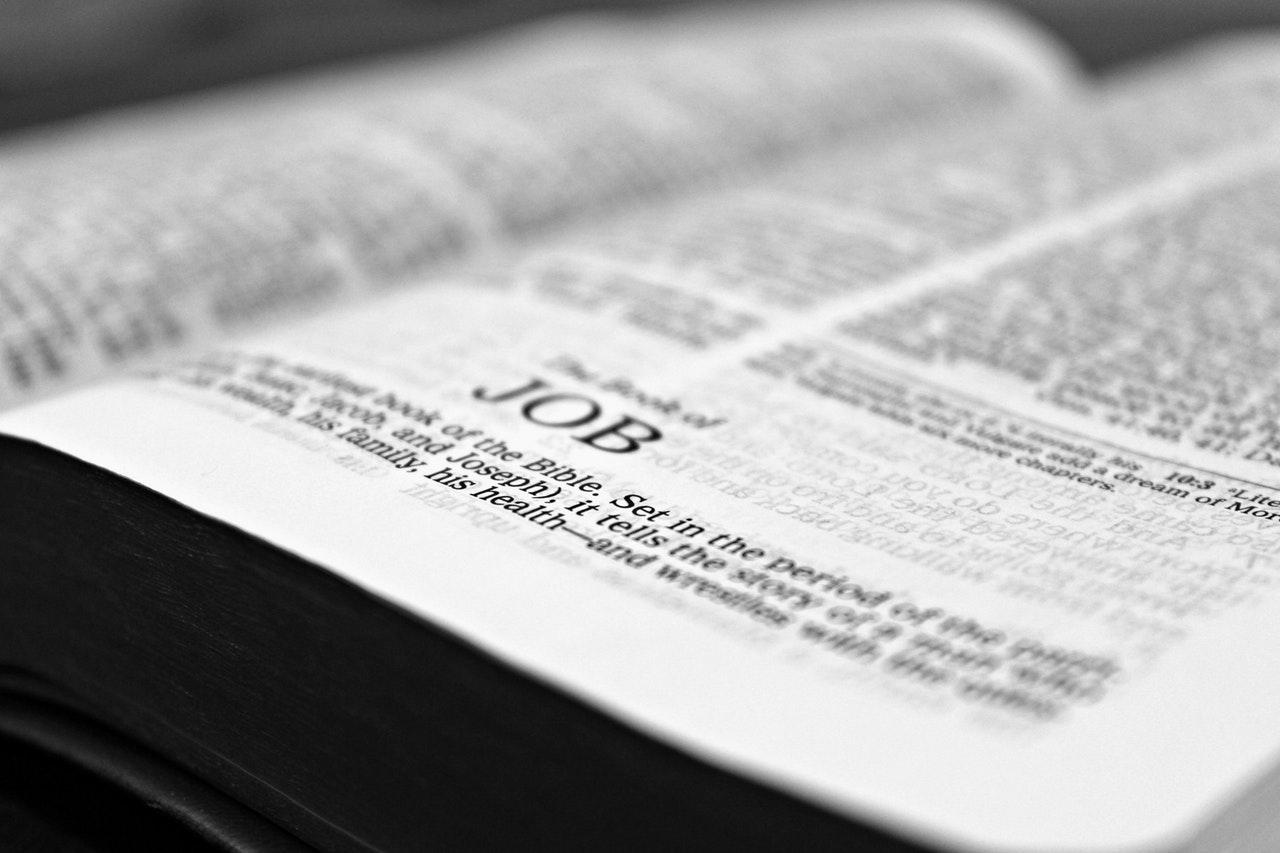 Bible open to Job