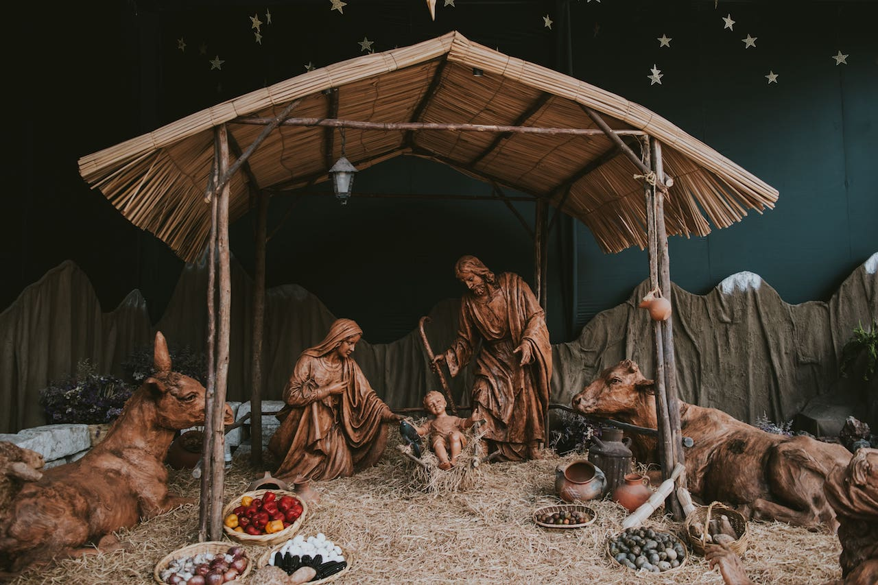 First Christmas Nativity Scene